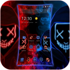 Blue Red Fire Led Mask Anonymous Theme APK