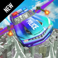 Flying Police Robot Car Transform: Flying Car Game APK