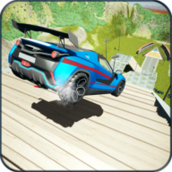Car Crash Beam Driving Stair Jumps Down APK