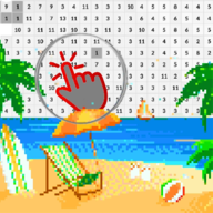 Beach Pixel Art Coloring By Number APK