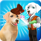 Fluffy Labradors at Hair Salon APK