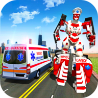 Ambulance Robot City Rescue Game APK