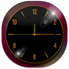 Black and Gold Clock APK