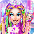 Princess Braided Hairstyles Color by number APK