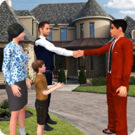 Virtual Rent House Search: Happy Family Life APK