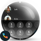 drupe Leather Black Theme APK