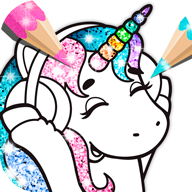 Cute Coloring Book for Kids Sparkle APK