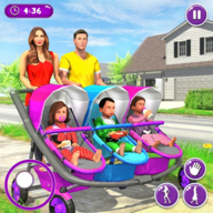 New Mother Baby Triplets Family Simulator APK