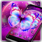 Neon Colorful Butterfly Theme APK