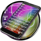 Dialer Glass Electric Theme APK