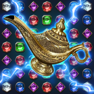 Jewels Magic Lamp : Match 3 Puzzle APK