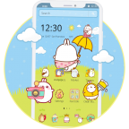 Cute Rabbit Cartoon Theme APK