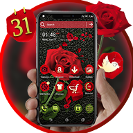 Rose in Black CMM Theme APK