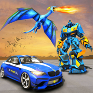 US Police Dragon Robot Game APK