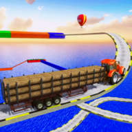 Mega Ramp : Impossible Tractor Driving Simulator 3D APK
