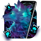 Dark Night Magic Wolf Theme APK