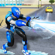Snow Storm Superhero City Rescue Futuristic Robots APK
