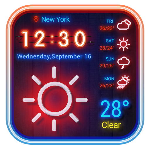 Neon Weather Widget APK